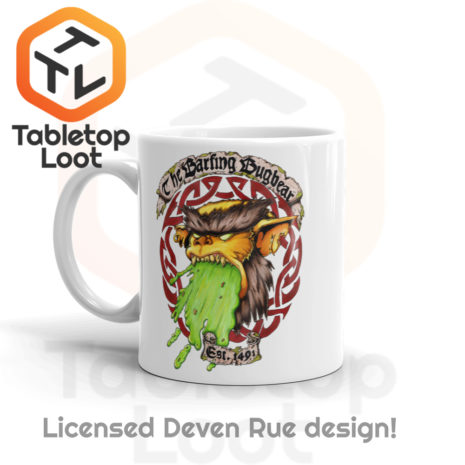 Tabletop Loot - Barfing Bugbear Mug by Deven Rue 11 oz -2