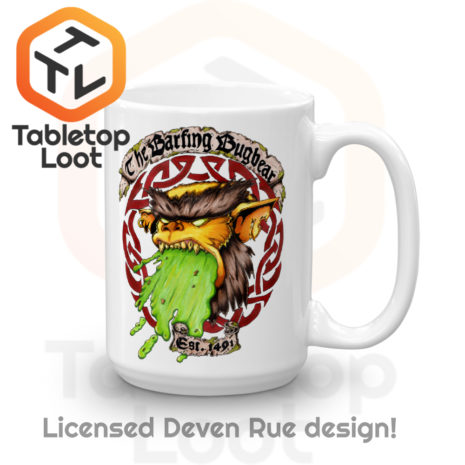 Tabletop Loot - Barfing Bugbear Mug by Deven Rue 15 oz -2