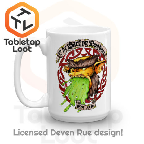 Tabletop Loot - Barfing Bugbear Mug by Deven Rue 15 oz