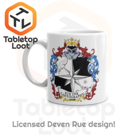 Tabletop Loot - Rue Ink Heraldry Mug 11oz -2