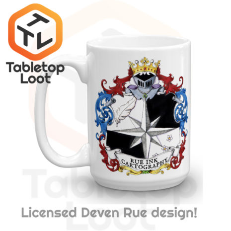 Tabletop Loot - Rue Ink Heraldry Mug 15 oz -2