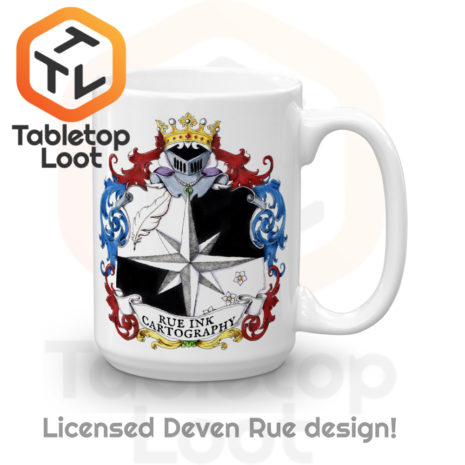 Tabletop Loot - Rue Ink Heraldry Mug 15 oz