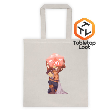 Tabletop Loot-Titan's Trial-Tan Bag