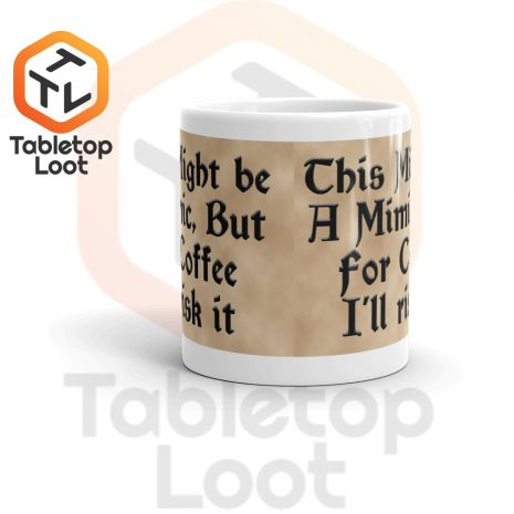 Tabletop Loot-Mimic Mug-Coffee-Aged-11oz-Front