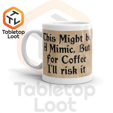 Tabletop Loot-Mimic Mug-Coffee-Aged-11oz-Left