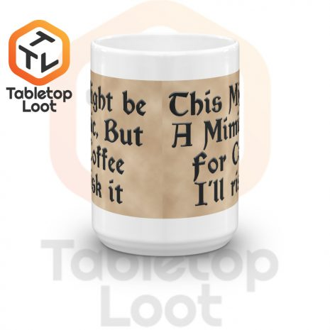 Tabletop Loot-Mimic Mug-Coffee-Aged-15oz-Front