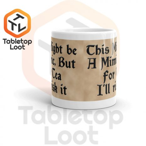 Tabletop Loot-Mimic Mug-Tea-Aged-11oz-Front
