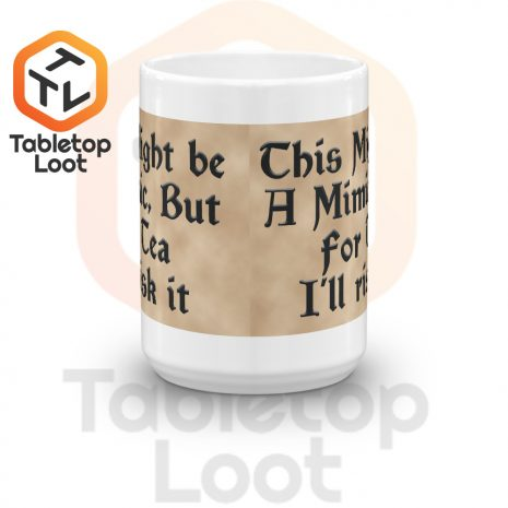 Tabletop Loot-Mimic Mug-Tea-Aged-15oz-Front