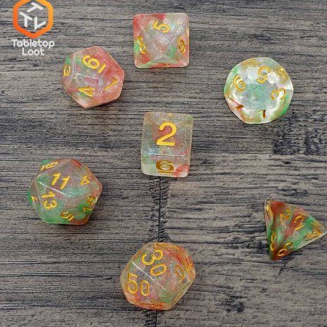 Tabletop Loot _ Luminous Orchid 2-dice-set-dice-dnd-dice-dd-dice-tabletop-dice-dungeons-and-dragons