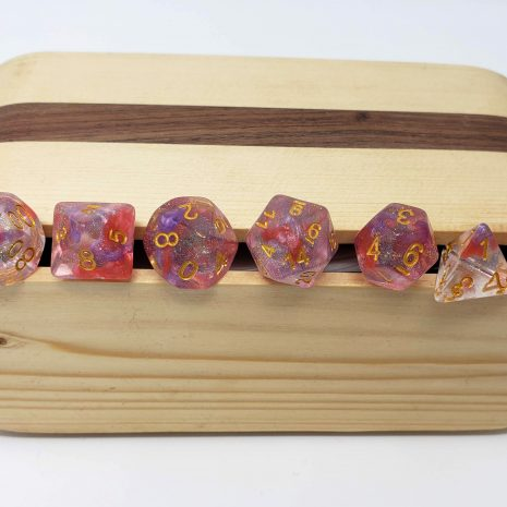 Tabletop Loot _ Luminous Ruby 4 - Wooden Dice Case-dice-set-dice-dnd-dice-dd-dice-tabletop-dice-dungeons-and-dragons