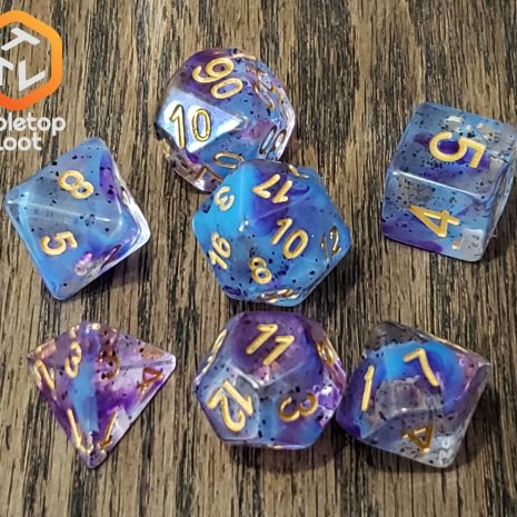 Tabletop Loot _ Violet Sulfer 3 -dice-set-dice-dnd-dice-dd-dice-tabletop-dice-dungeons-and-dragons