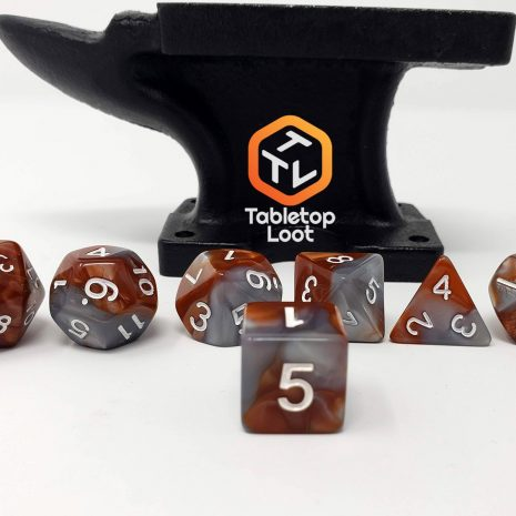 Tabletop Loot _Rusted Steel 3-dice-set-dice-dnd-dice-dd-dice-tabletop-dice-dungeons-and-dragons