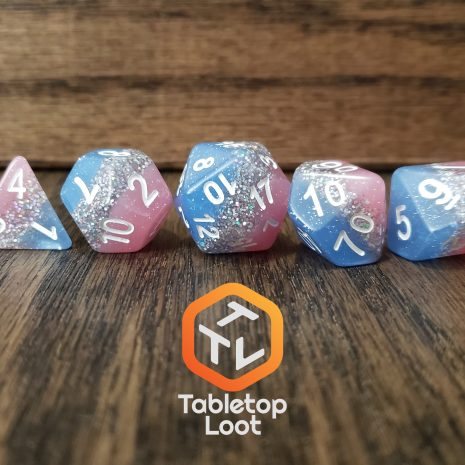 Tabletop Loot _ Bluestar Streak 5-dice-set-dice-dnd-dice-dd-dice-tabletop-dice-dungeons-and-dragons
