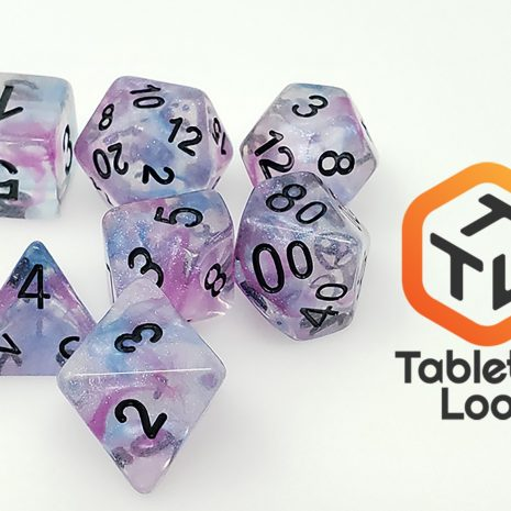 Tabletop Loot _ Luminous Ceremonial Chrome 2-dice-set-dice-dnd-dice-dd-dice-tabletop-dice-dungeons-and-dragons