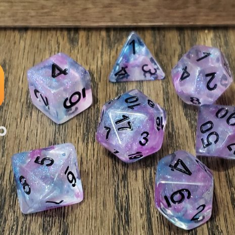 Tabletop Loot _ Luminous Ceremonial Chrome 4-dice-set-dice-dnd-dice-dd-dice-tabletop-dice-dungeons-and-dragons