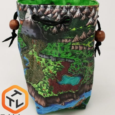 Tabletop Loot _ Deven Rue Map Dice Bag -dice-set-dice-dnd-dice-dd-dice-tabletop-dice-dungeons-and-dragons-dice bag-dice pouch
