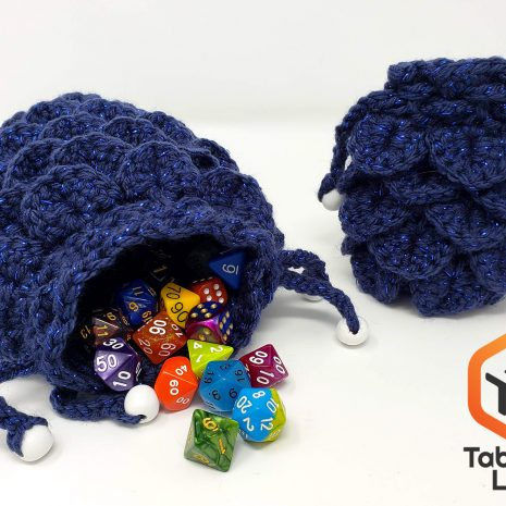 Tabletop Loot _ Crocheted Dragonscale Dice Bag 2-dice-bag -dice-dnd-dice-dd-dice-tabletop-dice-dungeons-and-dragons